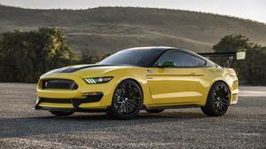 Preview wallpaper ford, mustang, gt350, shelby, yellow