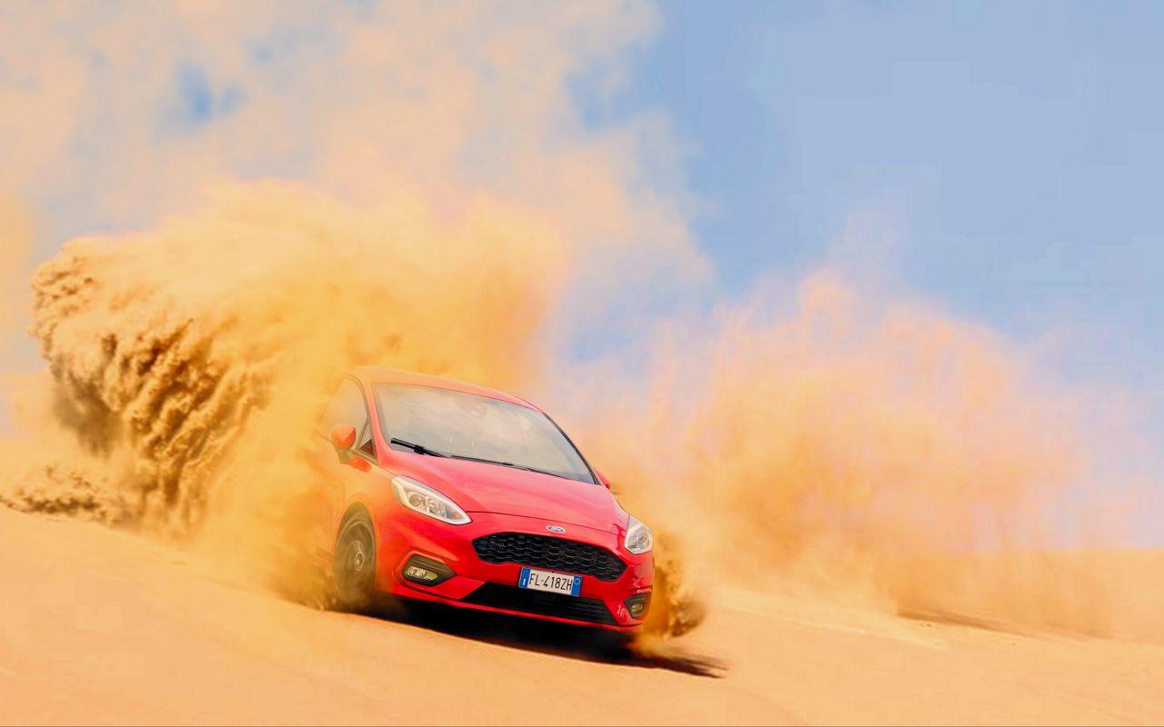 1280x800 Wallpaper ford, sand, drift, desert