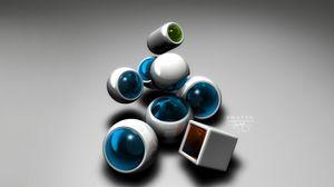 Preview wallpaper form, balls, plastic