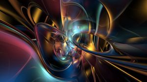 Preview wallpaper form, smooth, metal, multicolored, shiny