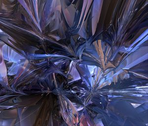 Preview wallpaper fractal, chaos, abstraction, blue