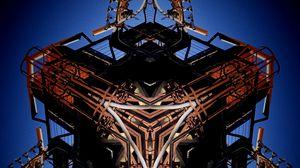Preview wallpaper fractal, cube, mechanism, steampunk, details