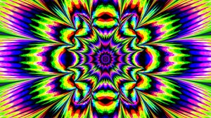 Preview wallpaper fractal, kaleidoscope, abstraction, bright, optical illusion