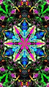 Preview wallpaper fractal, kaleidoscope, abstraction, colorful