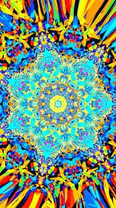 Preview wallpaper fractal, kaleidoscope, pattern, colorful, abstraction