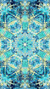 Preview wallpaper fractal, kaleidoscope, pattern, abstraction, blue