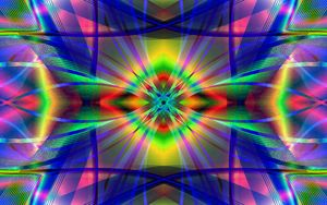Preview wallpaper fractal, lines, abstraction, colorful