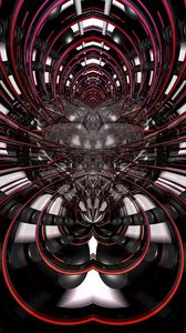Preview wallpaper fractal, lines, abstraction, black