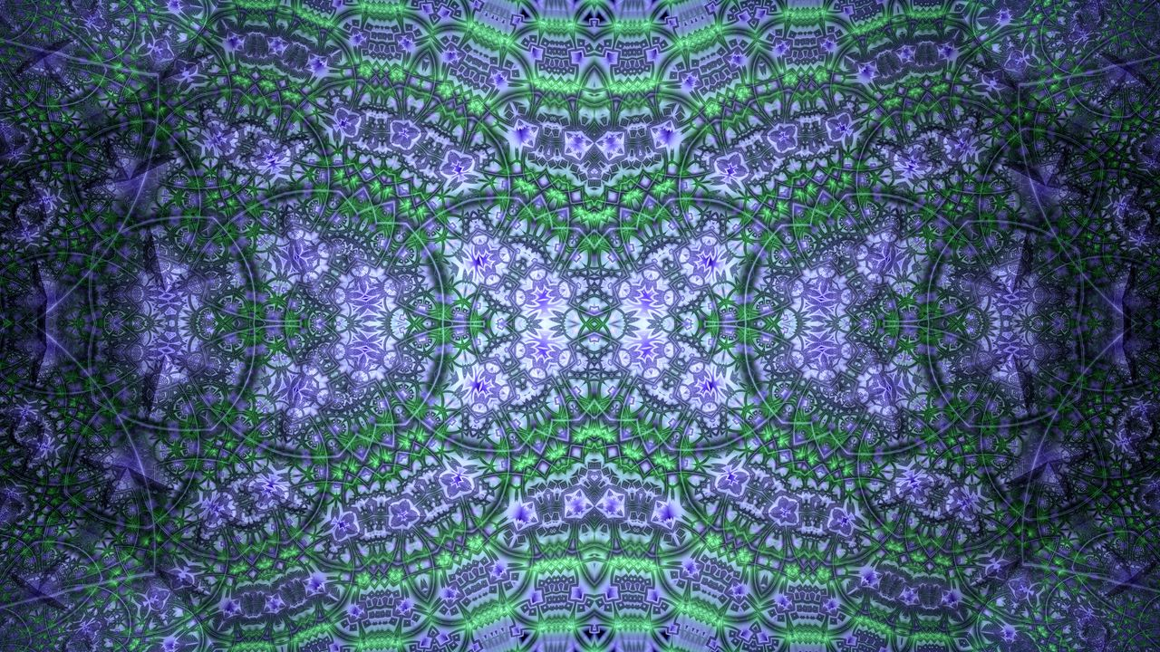 Wallpaperfractal,pattern,abstraction,green,purple高清壁纸免费下载