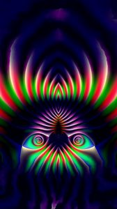Preview wallpaper fractal, pattern, abstraction, dark, colorful
