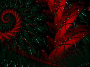 Preview wallpaper fractal, pattern, abstraction, red, green