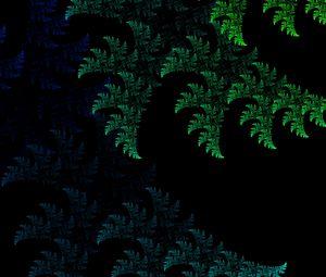 Preview wallpaper fractal, pattern, abstraction, green, dark