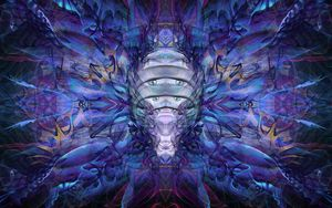 Preview wallpaper fractal, pattern, abstraction, blue, purple