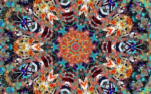 Preview wallpaper fractal, pattern, colorful, motley, abstraction