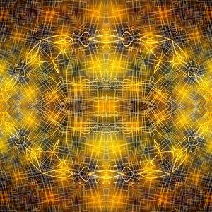 Preview wallpaper fractal, pattern, glow, abstraction, yellow