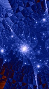 Preview wallpaper fractal, pattern, glow, abstraction, blue