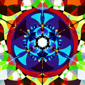Preview wallpaper fractal, pattern, kaleidoscope, shapes, abstraction, colorful