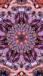 Preview wallpaper fractal, pattern, lines, purple, abstraction