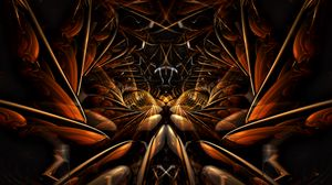 Preview wallpaper fractal, pattern, lines, abstraction, brown