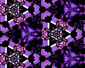 Preview wallpaper fractal, pattern, purple, black, abstraction
