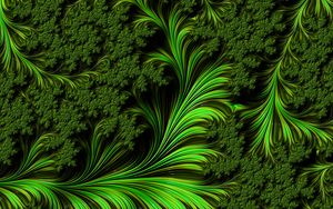 Preview wallpaper fractal, pattern, shapes, green, abstraction