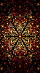 Preview wallpaper fractal, patterns, glitter, flower, glare, digital art