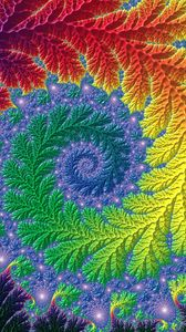 Preview wallpaper fractal, patterns, spiral, multicolored, twisted