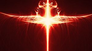 Preview wallpaper fractal, ray, light, red, abstraction