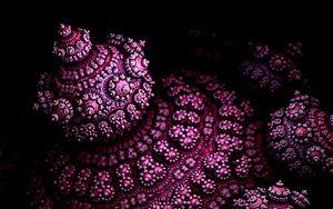 Preview wallpaper fractal, shape, 3d, volume, purple