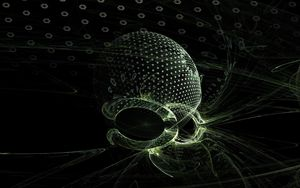 Preview wallpaper fractal, shape, particle, space, dark