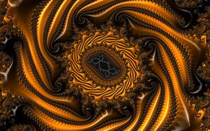 Preview wallpaper fractal, shape, twisted, relief, surface, patterns