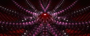 Preview wallpaper fractal, shapes, ball, 3d