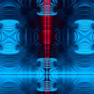 Preview wallpaper fractal, shapes, glow, abstraction, blue, red