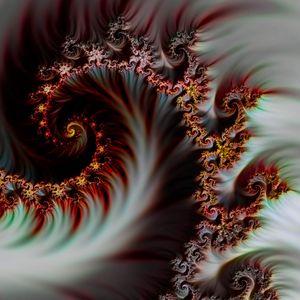 Preview wallpaper fractal, spiral, digital art, abstraction, futuristic