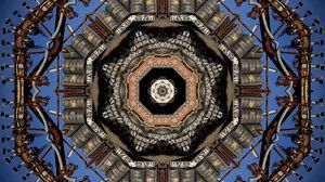 Preview wallpaper fractal, steampunk, chains, details