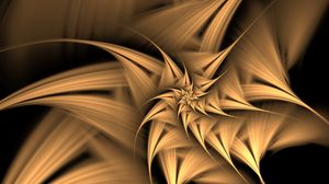 Preview wallpaper fractal, twisted, spiky, abstraction, digital