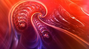Preview wallpaper fractal, twisted, tangled, bright, abstraction