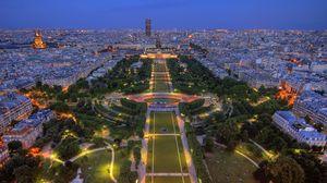 Preview wallpaper france, paris, building, stadium, park, hdr