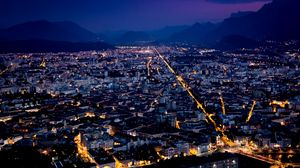 Preview wallpaper france, top view, night