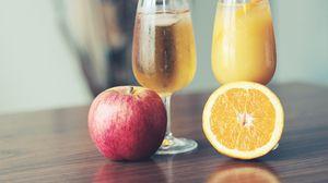 Preview wallpaper fresh, juice, fruit, apple, orange