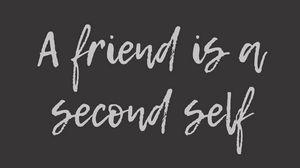 Preview wallpaper friend, friendship, inscription, phrase, text