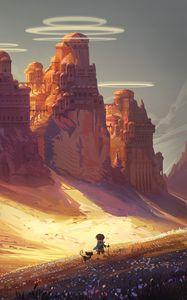 Preview wallpaper friends, adventure, castle, art