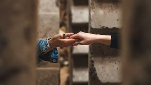 Preview wallpaper friendship, hands, touch, rings, wall