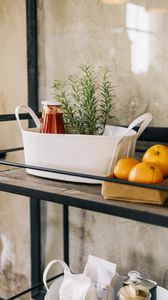Preview wallpaper fruit, citrus, shelf, food