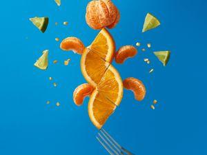 Preview wallpaper fruit, citrus, wedges, fresh, bright