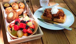 Preview wallpaper fruit, pastries, dessert, breakfast
