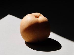 Preview wallpaper fruit, peach, shadow, dark