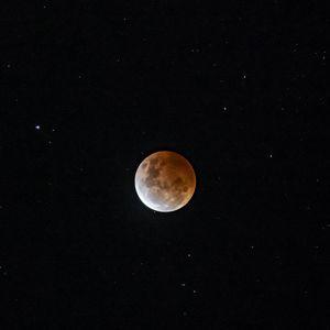 Preview wallpaper full moon, moon, sky, stars, space, dark