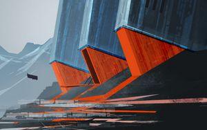 Preview wallpaper future, airship, art