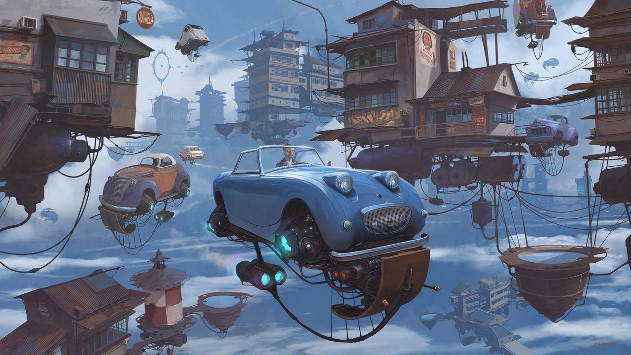 Wallpaper future, car, technology